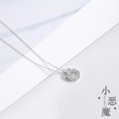 項鍊:925純銀 簡約鑲鑽小惡魔項鍊女  【新飾界】