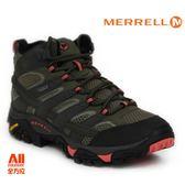 【Merrell】女款HIKING 郊山健行MOAB 2 MID GTX多功能系列  - 墨綠紅 (41094)【全方位運動戶外館】