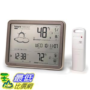 [美國代購] AcuRite 75077 天氣觀測器 Weather Forecaster with Jumbo Display,Remote Sensor&Atomic Clock