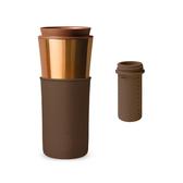 【HYDY】兩用隨行保溫杯 摩卡-古銅金+ 泡茶器