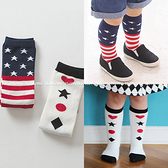 童襪 寶寶襪  國旗撲克中筒襪 嬰兒襪 止滑襪 0-4歲 CA1752 好娃娃