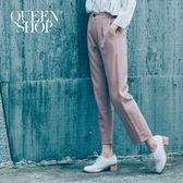Queen Shop【04101238】後腰伸縮彈性西裝褲 三色售 S/M*預購*