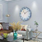 歐影歐式掛鐘現代靜音搖擺鐘錶創意田園家用客廳裝飾壁鐘臥室時鐘-享家生活館 YTL