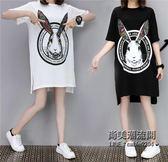 XL-XXXXXL大尺碼女裝卡通印花大胸圍130CM連衣裙T恤衫肥