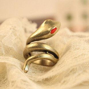 時尚流行熱賣 複古滴油 蛇形 戒指