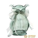 法式絲帶創意玻璃花瓶 透明北歐客廳插花花瓶裝飾擺件【小獅子】