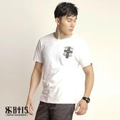 【BTIS】十字架 圓領T-shirt / 白色
