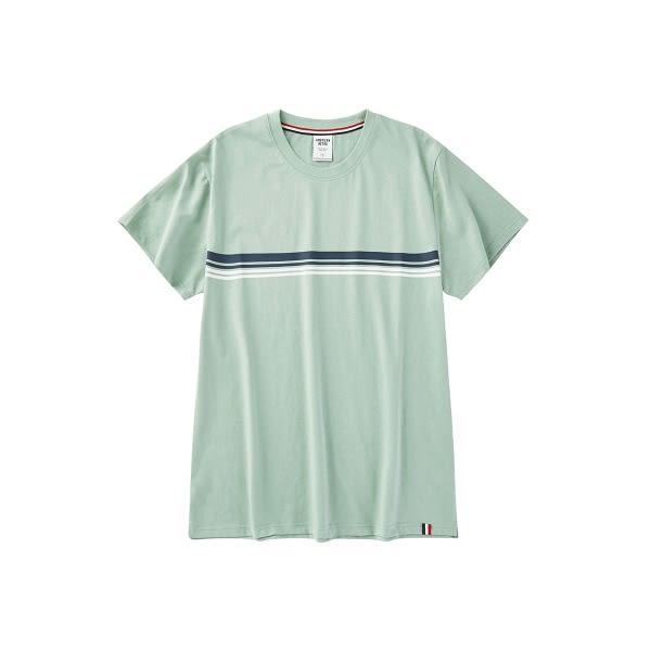 CACO-配色條紋短T(三色)-男【SAR003】
