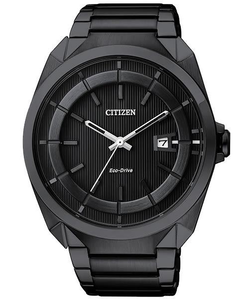 CITIZEN Eco-Drive 時尚紳士風腕錶(AW1015-53E)-IP黑/42mm