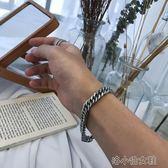 ins韓版簡約情侶飾品手飾蛇骨鏈金屬鈦鋼手鏈 男女  『洛小仙女鞋』