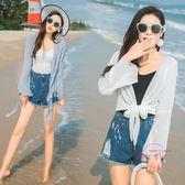 (低價促銷)防曬衣女短版薄版夏季新品正韓百搭雪紡長版開衫外套冷氣衫