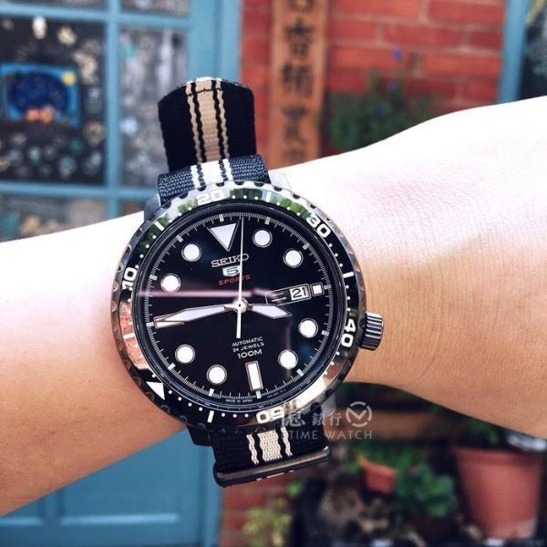 【南紡購物中心】SEIKO日本精工盾牌5號軍事風機械腕錶4R36-06N0X/SRPC67J1公司貨