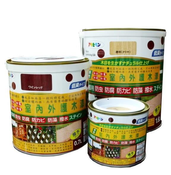 日本Asahipen室內/庭院防蟲防腐護木漆0.2L