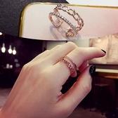 戒指開口個性時尚簡約戒指女單身食指指環小尾戒韓版網紅潮冷淡風