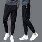 新品特惠# 運動褲男夏季新款休閑褲男式小腳哈倫褲青年九分褲學生男褲子