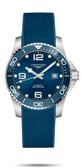 LONGINES 浪琴 深海征服者l浪鬼 L37824969 陶瓷潛水機械錶-43mm藍/膠