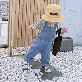 男童吊帶褲春秋可開檔兒童韓版牛仔套裝寶寶可愛小童女洋氣秋裝潮 【夏日新品】