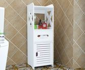 浴室置物架馬桶邊櫃側櫃洗手間衛生間落地儲物櫃防水廁所收納架子   智能生活館