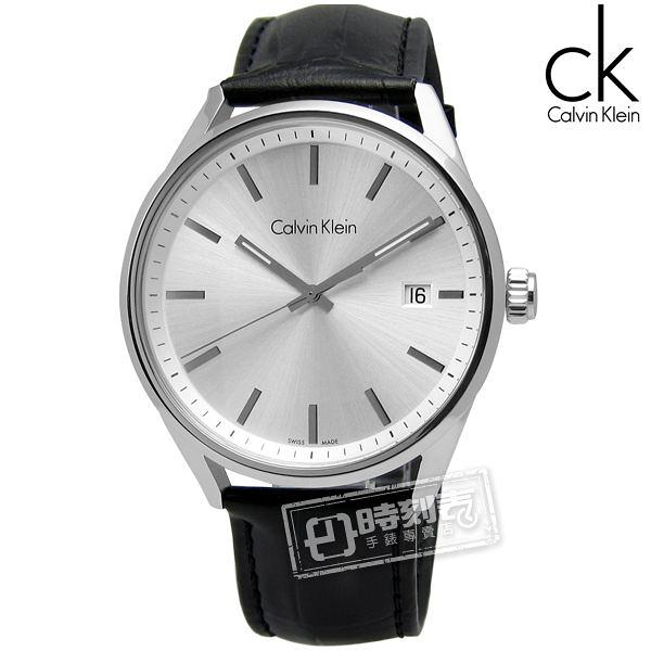 CK FORMALITY / K4M211C6 旅幻時空 日期壓紋皮革腕錶 灰色 43mm