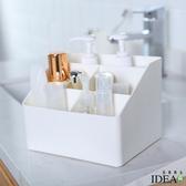 【IDEA】純色素面五格大容量瓶罐桌面收納盒粉色