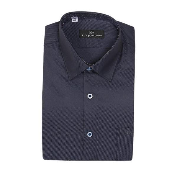 【南紡購物中心】【PIERRE BALMAIN 皮爾帕門】長袖襯衫-深藍黑斜條紋(F1)