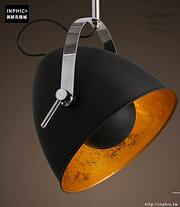 INPHIC- 工業風格復古吊燈美式創意咖啡館酒吧吧台鍋蓋鳥籠單頭吊燈-Q款_S197C