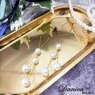 現貨不用等 韓國女神時尚氣質浪漫百搭幾何珍珠925銀針垂墜耳環 S93530 批發價 Danica 韓系飾品