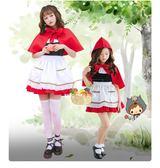 【雙十二】狂歡英雄聯盟LOL小紅帽cos服裝萬圣節圣誕節斗篷披肩童裝親子母女裝    易貨居