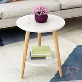 茶几小圓茶几床頭桌沙發邊桌小圓桌小茶几現代簡約角幾邊幾北歐小桌子XW(1件免運)