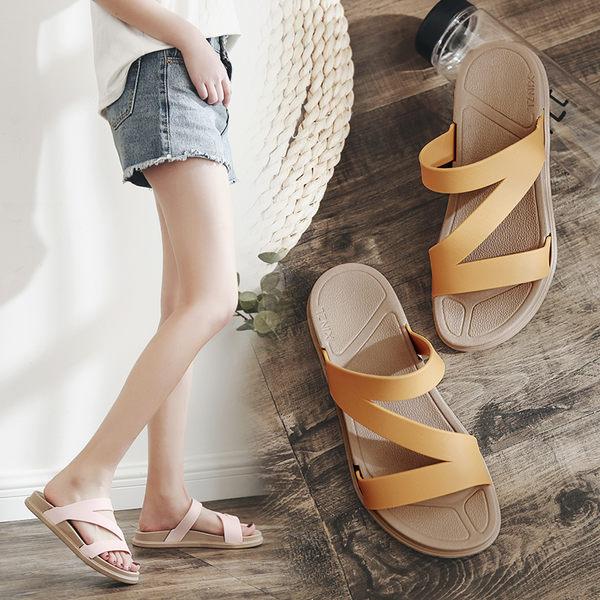拖鞋.晴雨鞋兩穿Z型防水拖鞋 平底涼鞋 36-41碼-7色可選 快速出貨