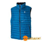 【wildland 荒野】男 700FP輕量羽絨背心『地中海藍』0A52172 羽絨外套│保暖│防潑水│時尚外套