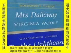 二手書博民逛書店Mrs罕見dalloway To the lighthouse The wavesY398159 woo
