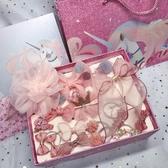 韓國兒童發夾發圈發箍套裝禮盒公主皇冠蝴蝶結頭飾女寶寶發飾禮物 雙十二全館免運