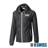 【超取】K-SWISS Color Zip Jacket防風外套-男-黑