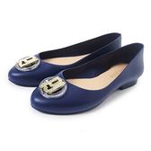 Petite Jolie 經典金屬LOGO娃娃鞋-靛藍