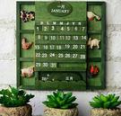 美式鄉村復古木質萬年月曆 掛曆 日曆 擺...