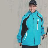【日本Kawasaki】男女休閒功能性二件式網裡外套(水藍)