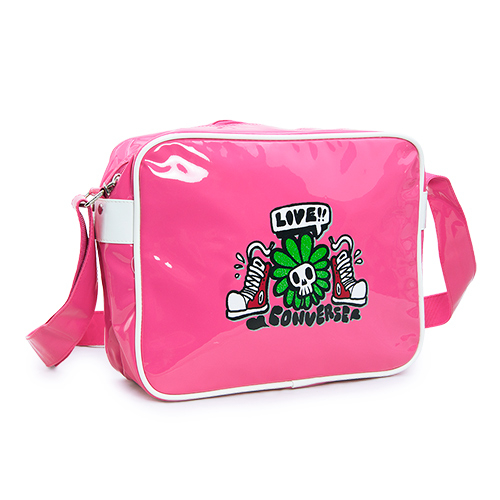 LIKA夢 CONVERSE 經典時尚塗鴉斜、側背包 學生包 桃粉紅 312467