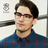 【Front 光學眼鏡】G3508-兩色可挑選(#簡約造型眉框款光學眼鏡)