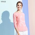 【ST.MALO】當代台灣原創銀纖維機能女上衣-1929WT-粉彩橘