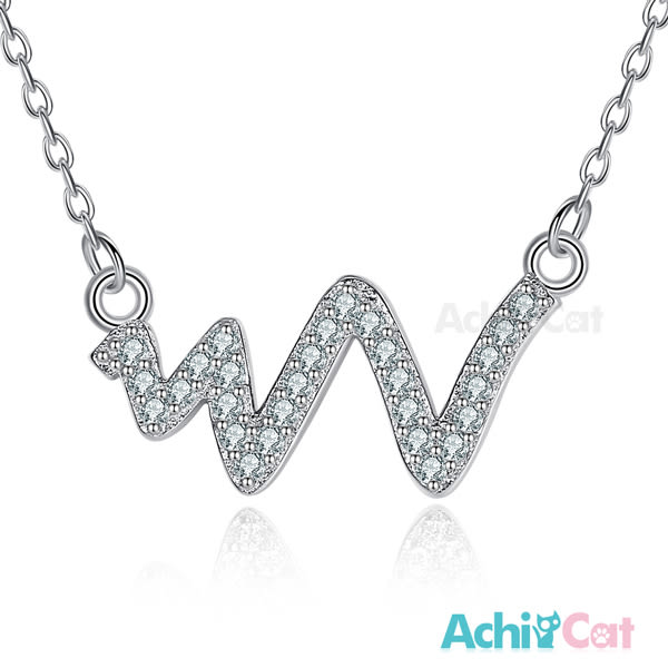 925純銀項鍊 AchiCat 純銀飾 心動時分 鎖骨鍊 心電圖