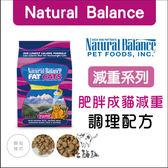 Natural Balance〔NB,肥胖成貓減肥調理配方,6磅〕