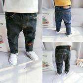 男童長褲 新款寶寶加絨牛仔褲男童加厚長褲嬰幼兒休閒褲子12345歲 米蘭街頭
