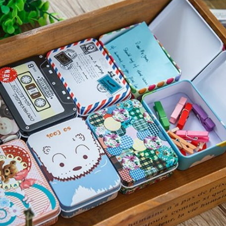 馬口鐵盒禮物盒飾品盒文具小物收納盒-艾發現
