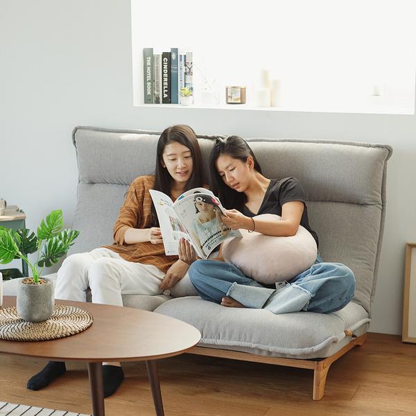 北歐 和室椅 椅墊 沙發【M0054】格納無段雙人沙發(兩色)  收納專科