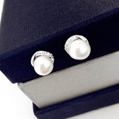 925純銀耳環-珍珠優雅別緻名媛時尚生日情人節禮物女飾品73ld46【時尚巴黎】