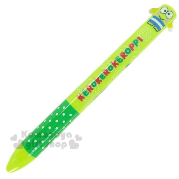 小禮堂 大眼蛙 日本製 造型雙色筆 (綠全身款) 4991567-26267