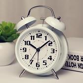 鬧鐘 可愛金屬鬧鐘創意靜音夜燈數字學生臥室床頭懶人大聲