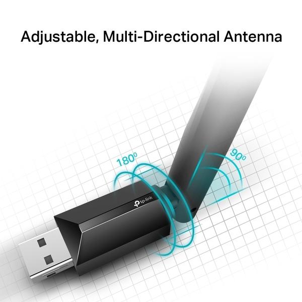 TP-LINK Archer T2U Plus AC600高增益 USB 無線雙頻網路卡 VER:1