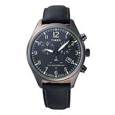 TIMEX 刻劃時代計時皮帶腕錶-TW2R88400